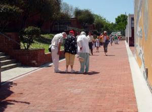 Alumni inspect the Walk - 2005